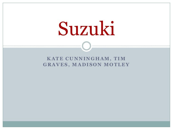 Kate Cunningham, Tim Graves, Madison Motley<br />Suzuki<br />