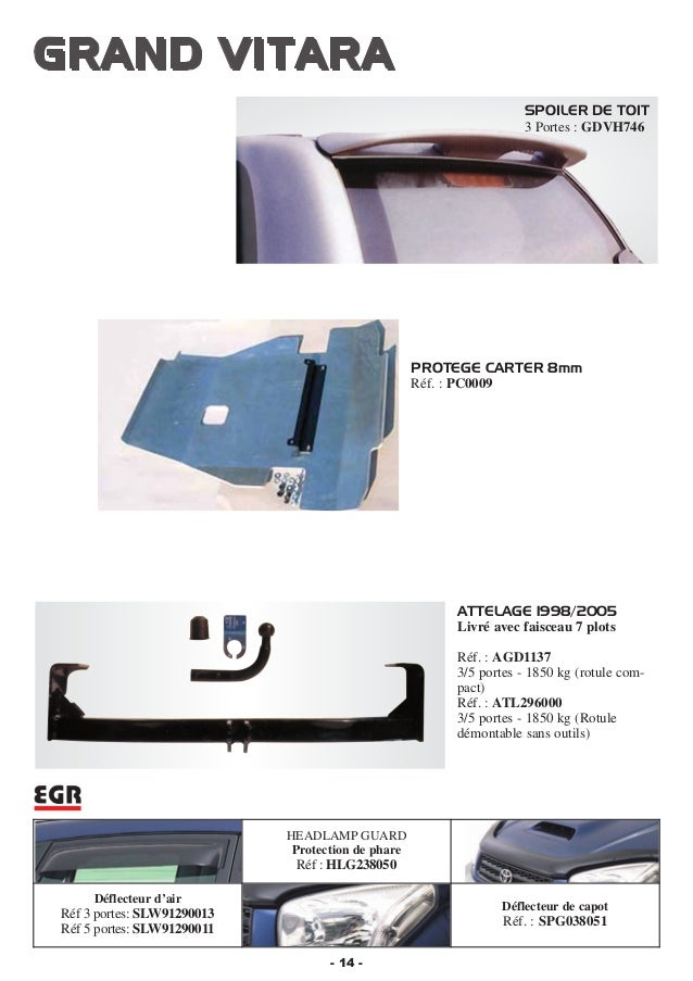 Attelage démontable Suzuki Grand Vitara 3//5 portes 1998//2005 faisceau