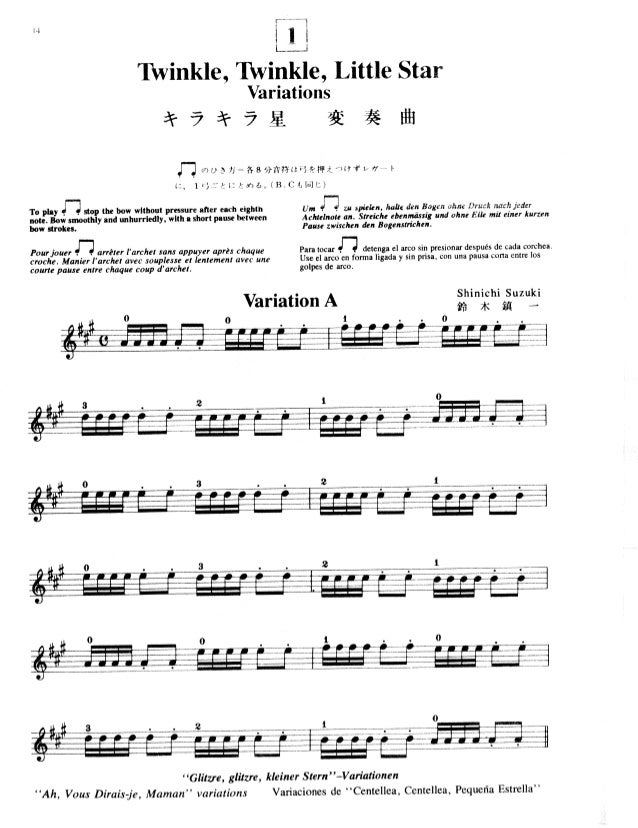 Suzuki Twinkle Variation B