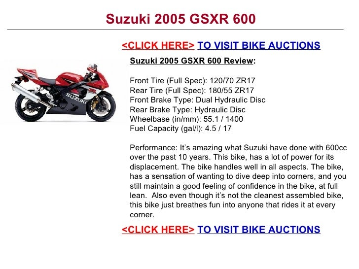 Superb Suzuki 2005 Gsxr 600 Ibusinesslaw Wood Chair Design Ideas Ibusinesslaworg