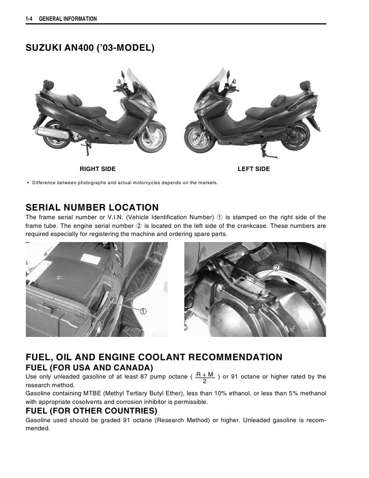 suzuki burgman 400 2003 rh slideshare net Corvette Fuse Box Location Suzuki 400 Quad VIN