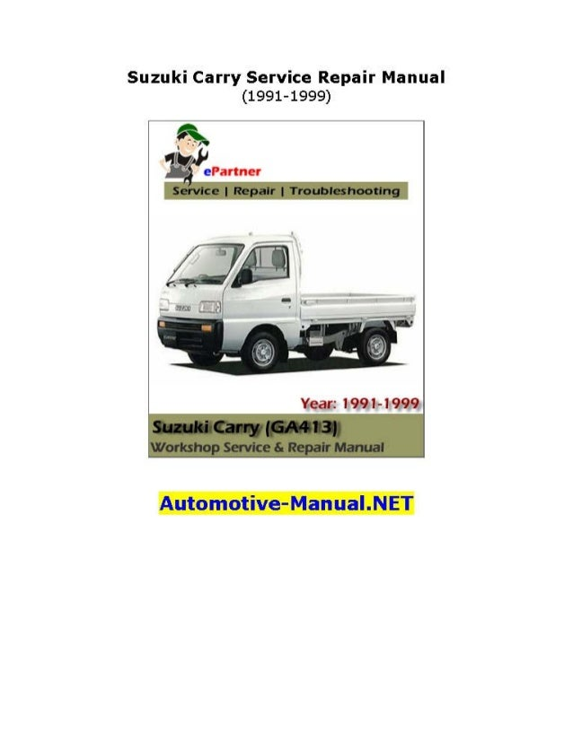 suzuki carry service repair manual 1991 1999 rh slideshare net Suzuki Utility Vehicle Suzuki Van Alto
