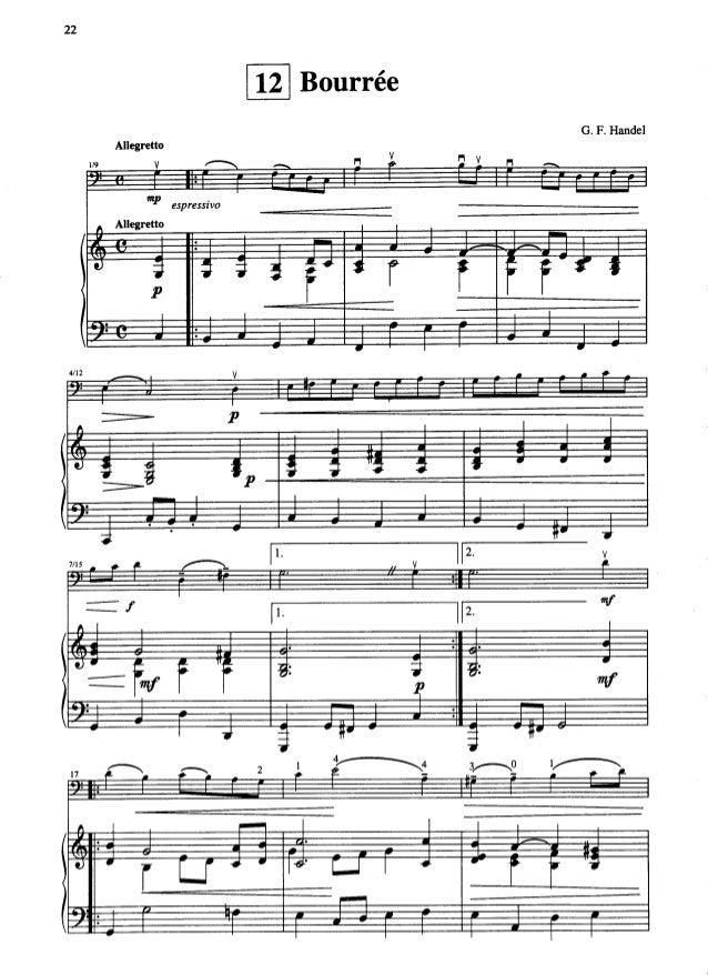 Bouree Suzuki Book  Cello