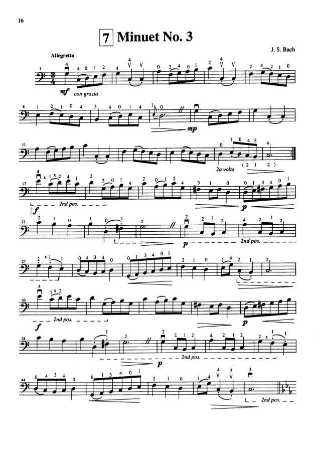 Suzuki Book  Cello Minuet