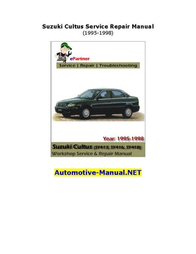 suzuki cultus service repair manual 1995