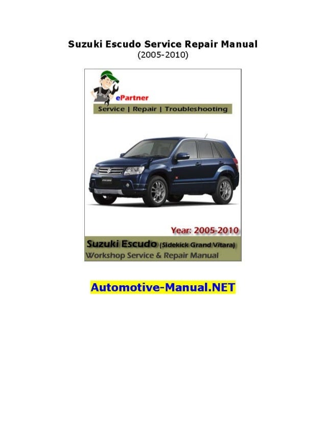 suzuki escudo service repair manual 2005 2010 rh slideshare net Automatic Transmission Wiring Harness Spacer Automatic Transmission Wiring Harness Spacer