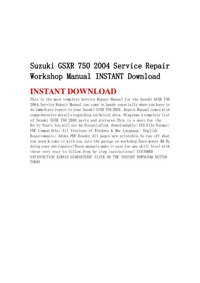 2006 suzuki gsx r750 k6 service manual download