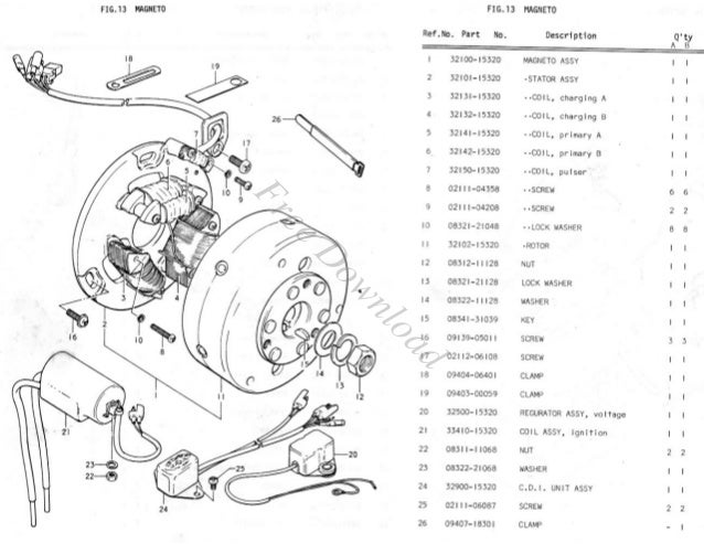 suzuki gt500 gt 500 illustrated parts list diagram manual rh slideshare net