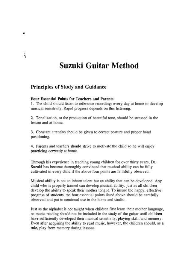 Suzuki Method Teaching Points