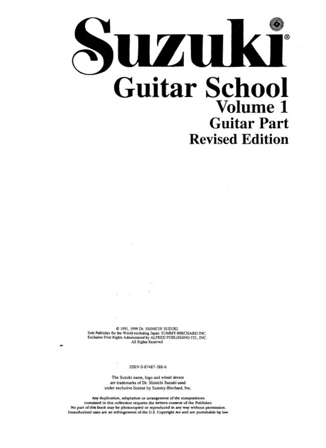Suzuki Guitar School Pdf