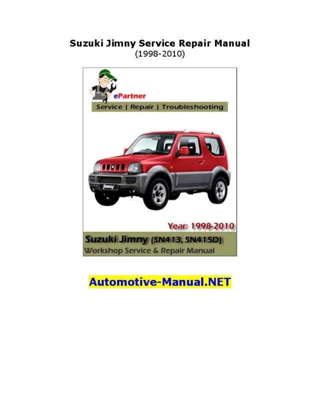 Suzuki Jimny Service Repair Manual 1998-2010