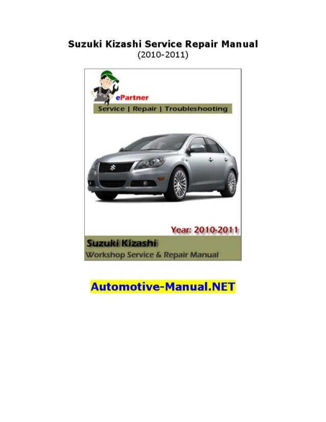 Suzuki Kizashi Service Manual Download