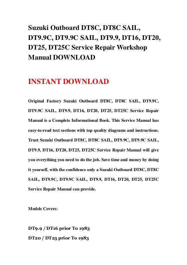 Suzuki dt65 outboard service manual 98 open source user manual suzuki dt20 repair workshop manual ebook rh suzuki dt20 repair workshop manual ebook moll suzuki dt fandeluxe Gallery