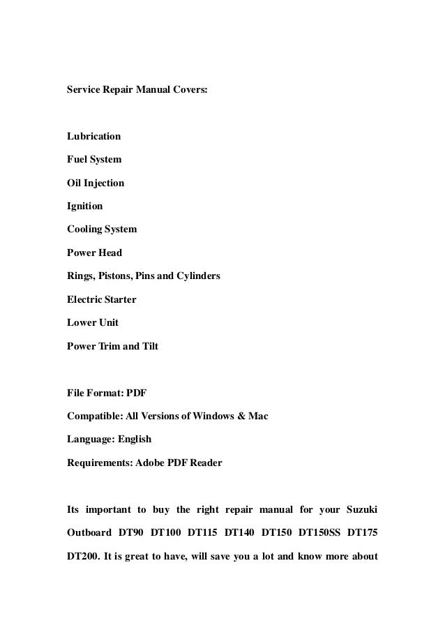 suzuki outboard dt90 dt100 dt115 dt140 dt150 dt150ss dt175 dt200 service repair workshop manual download 2 638?cb=1357059058 suzuki outboard dt90 dt100 dt115 dt140 dt150 dt150ss dt175 dt200 serv Suzuki DT40 Outboard Parts Diagrams at edmiracle.co