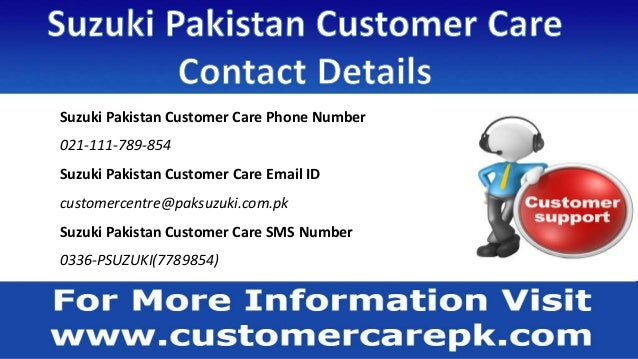 Suzuki Pakistan Customer Care Number, Head Office Address, Email ID, …