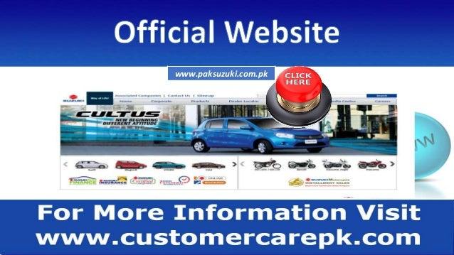 Suzuki Pakistan Customer Care Number, Head Office Address