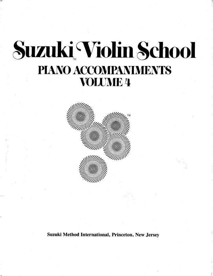 Suzuki Violin Method Vol 04 Piano Accompaniments