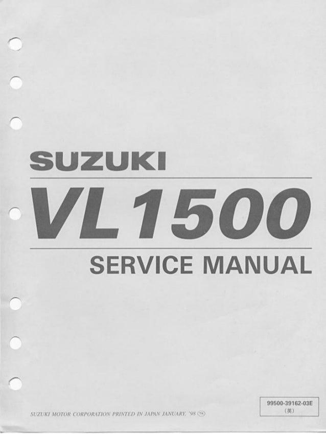 suzuki vl1500 intruder 98 00 service manual rh slideshare net service manual suzuki vl 250 intruder service manual suzuki vl 250 intruder