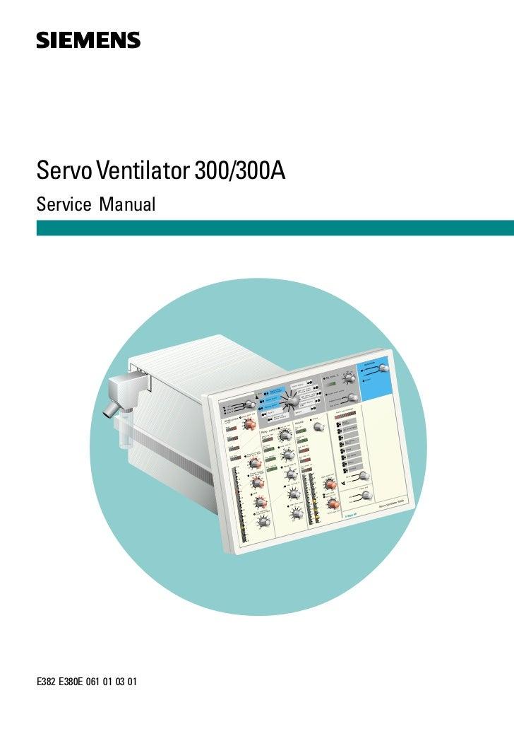 sv300service manual rh slideshare net Servo-i Ventilator Tutorial Siemens Servo -i Ventilator