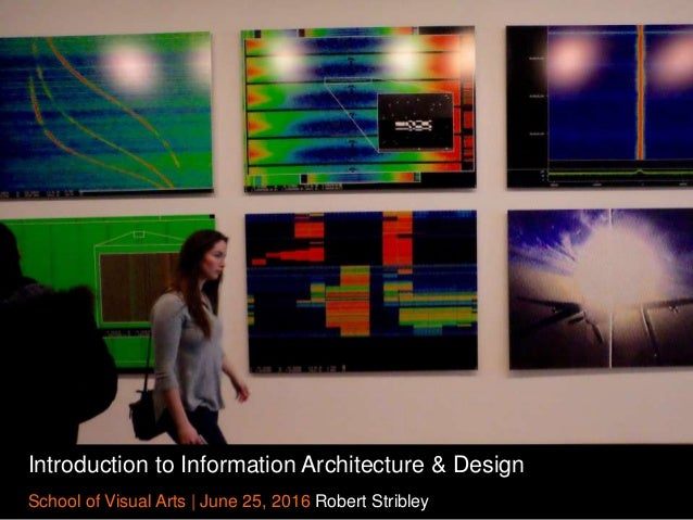 Introduction to Information Architecture & Design School of Visual Arts | June 25, 2016 Robert Stribley