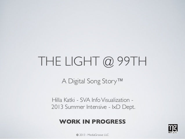 THE LIGHT @ 99TH A Digital Song Story™ Hilla Katki - SVA InfoVisualization - 2013 Summer Intensive - IxD Dept. WORK IN PRO...