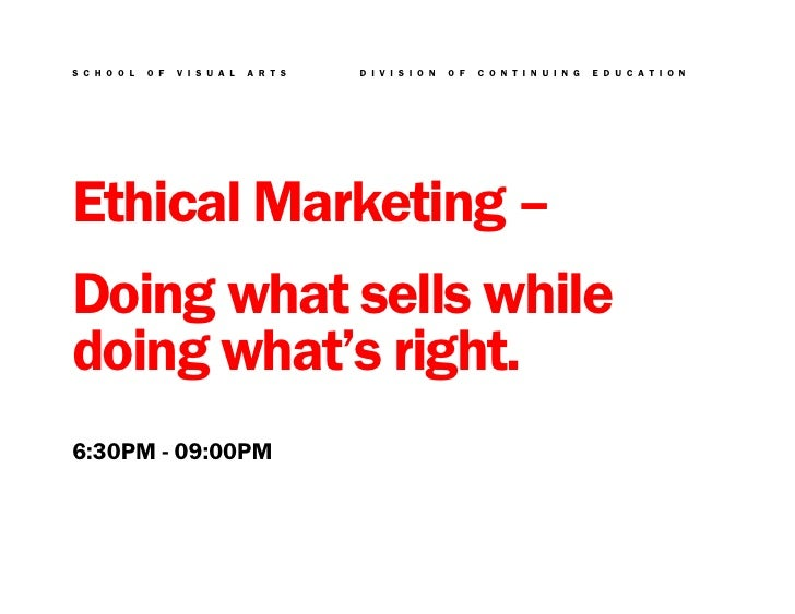 SVA Ethical Marketing Course (ADC-3347-A) with Charlie Rosner