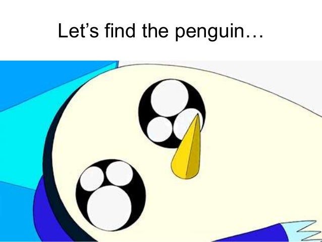 The penguin behind the boxes