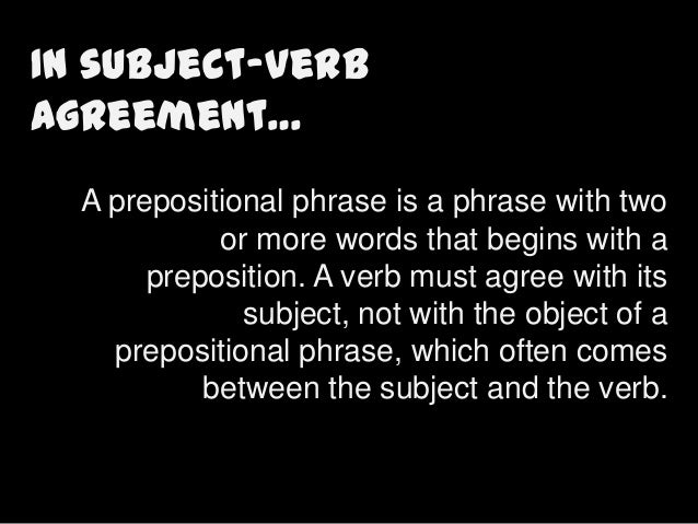 Subject verb agreement with prepositional phrase exercises ibookread PDF