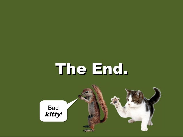 The End.The End. Bad kitty! Bad kitty!