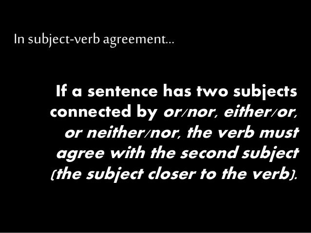 Subject Verb Agreement With Correlative Conjunction