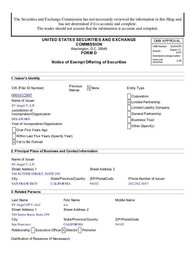 7/14/2014 SEC FORM D http://www.sec.gov/Archives/edgar/data/1612807/000161280714000001/xslFormDX01/primary_doc.xml 1/5 The...
