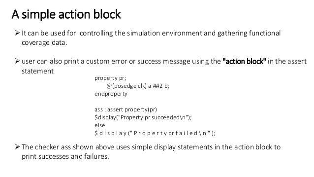 System verilog assertions