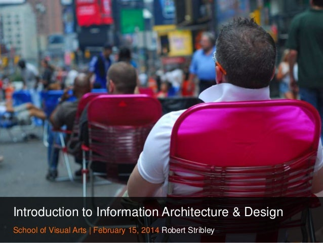 Introduction to Information Architecture & Design School of Visual Arts   February 15, 2014 Robert Stribley