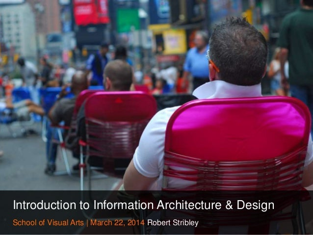 Introduction to Information Architecture & Design School of Visual Arts | March 22, 2014 Robert Stribley
