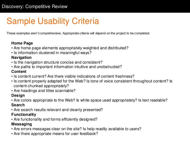 37. Discovery: Competitive Competitive Review ...
