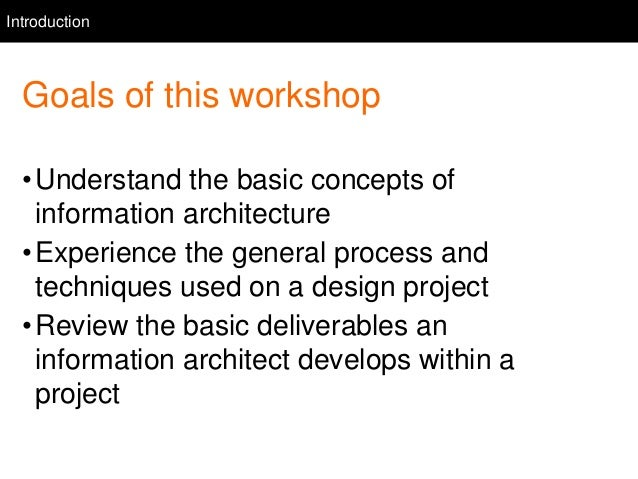 Introduction To Information Architecture Amp Design 12 06 14