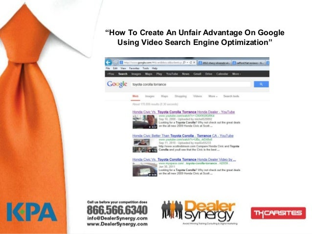 """How To Create An Unfair Advantage On Google   Using Video Search Engine Optimization""               nsdsf"