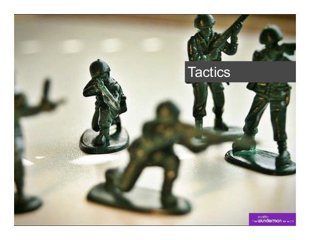 In short…§A tactic is an action you take to  execute the strategy.