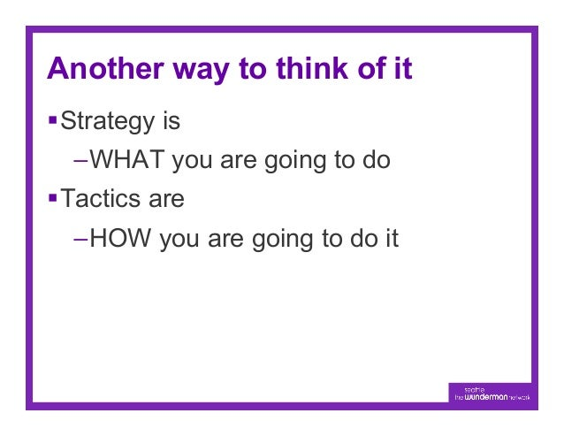 T-Mobile example…Objective                Goal                       Strategy               TacticA marketing             ...