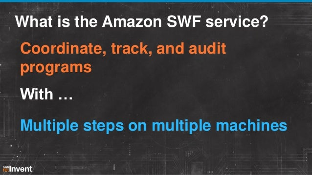 7 Use Cases in 7 Minutes Each : The Power of Workflows and Automation (SVC101) | AWS re:Invent 2013 Slide 2