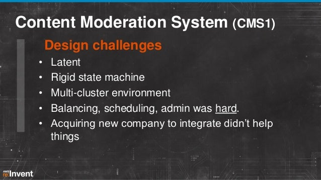 SWF, AWS architecture brought Benefits • Efficiency Moderation time (submission – publish) down 35% since launching CMS2. ...