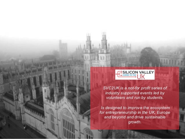 SVC2UK is a not-for profit series of  industry supported events led by   volunteers and run by students. Is designed to im...