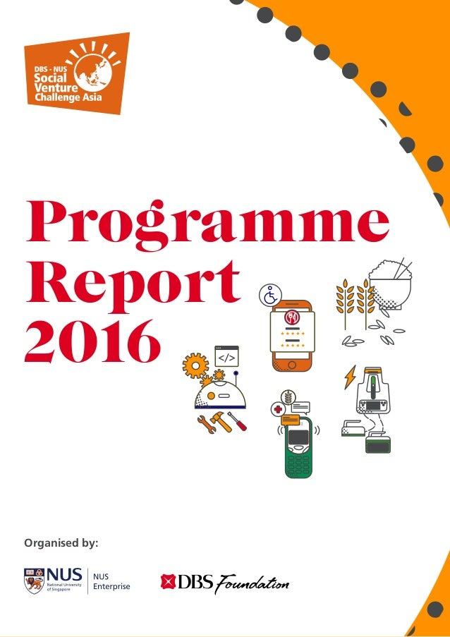 01 Programme Report 2016 Organised by:
