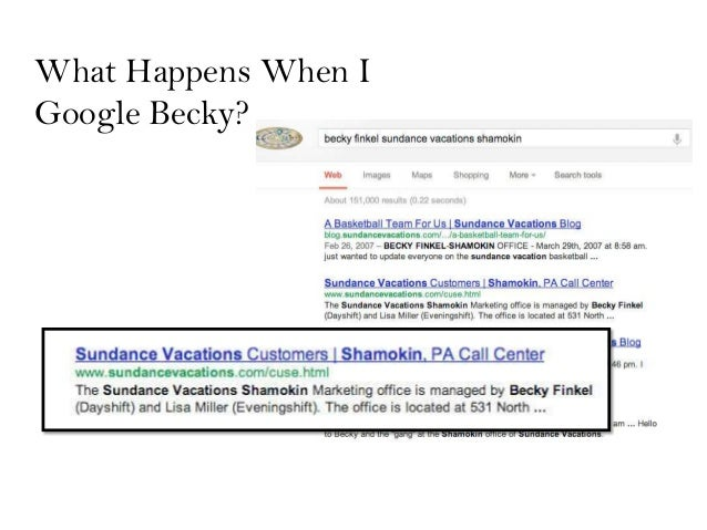 What Happens When IGoogle Becky?