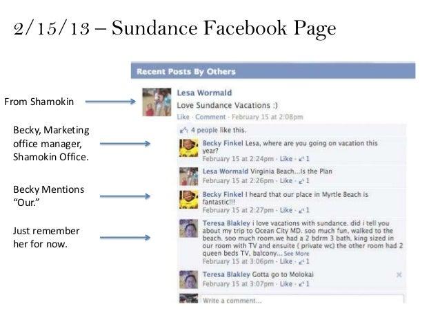 "2/15/13 – Sundance Facebook PageFrom Shamokin Becky, Marketing office manager, Shamokin Office. Becky Mentions ""Our."" Just..."