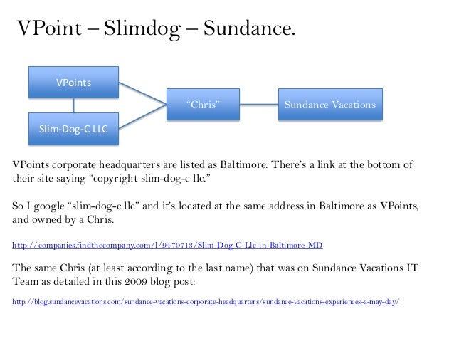 """VPoint – Slimdog – Sundance.             VPoints                                                    """"Chris""""               ..."""