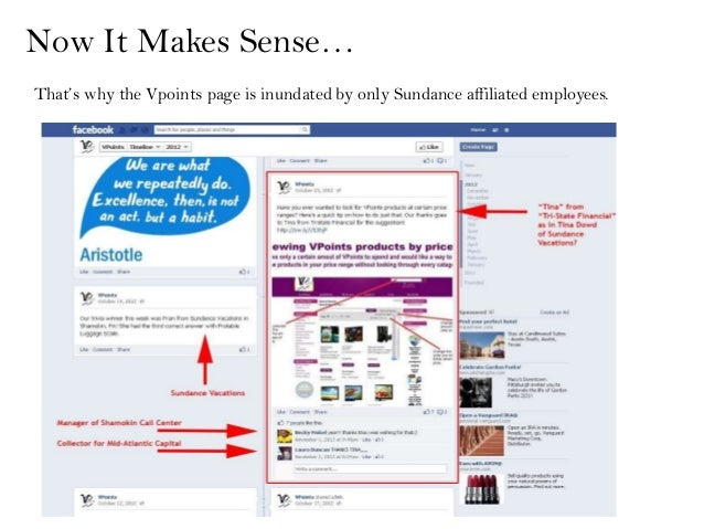 Now It Makes Sense…That's why the Vpoints page is inundated by only Sundance affiliated employees.