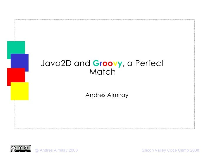 Java2D and  G r oo v y , a Perfect Match Andres Almiray
