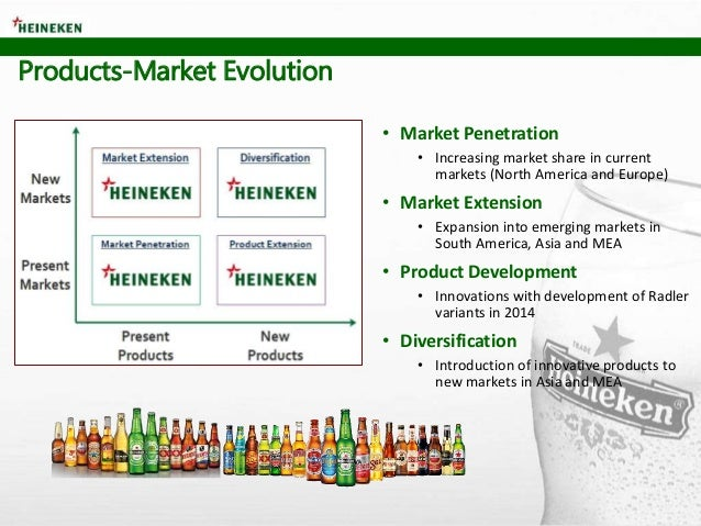 • Market Penetration • Increasing market share in current markets (North America and Europe) • Market Extension • Expansio...