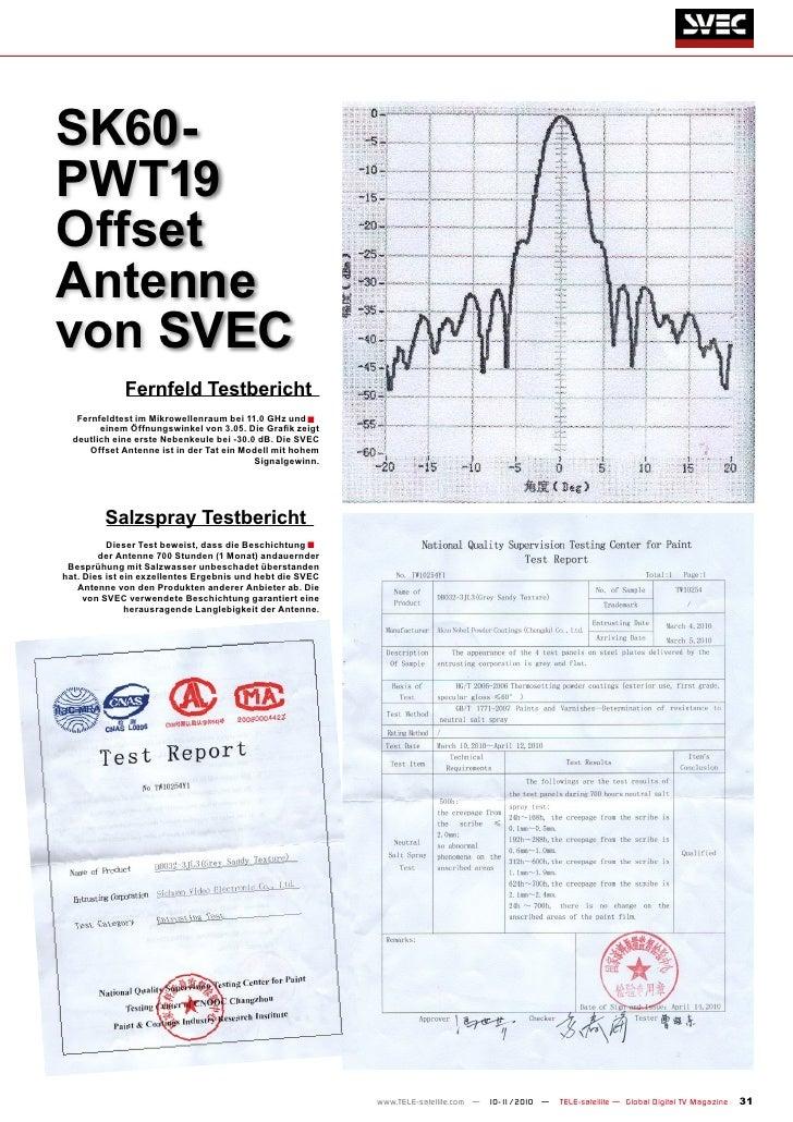 SK60-PWT19OffsetAntennevon SVEC             fernfeld Testbericht   fernfeldtest im Mikrowellenraum bei 11.0 Ghz und ■     ...